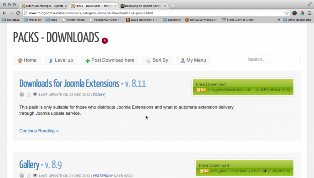 Plugin - Formatter - Joomla Update Server - Formatters